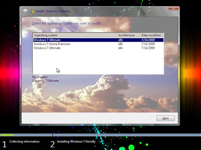 Windows 7 Eternity Edition x86 and x64 Build 7600 (ISO)+Win7 Loader.